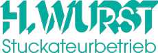 Wurst Stuckateur Logo im Footer